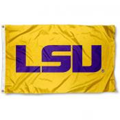 LSU Large Gold Flag