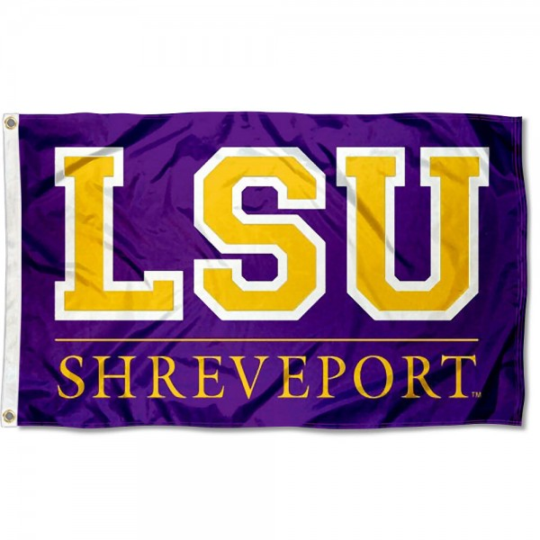 LSU Shreveport Flag measures 3'x5', is made of 100% poly, has quadruple stitched sewing, two metal grommets, and has double sided Team University logos. Our LSUS Pilots 3x5 Flag is officially licensed by the selected university and the NCAA.