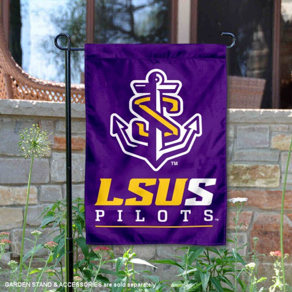 LSU Shreveport Garden Flag is 13x18 inches in size, is made of 2-layer polyester, screen printed university athletic logos and lettering, and is readable and viewable correctly on both sides. Available same day shipping, our LSU Shreveport Garden Flag is officially licensed and approved by the university and the NCAA.