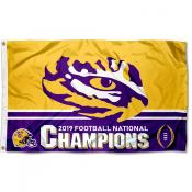 LSU Tigers 2019 2020 College National Champions Flag