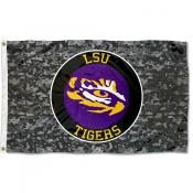 LSU Tigers Camo Flag