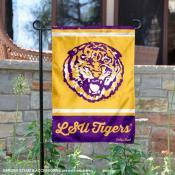 LSU Tigers College Vault Logo Garden Flag