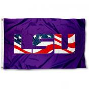 LSU Tigers Patriotic Flag