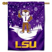 LSU Tigers Snowflake House Flag