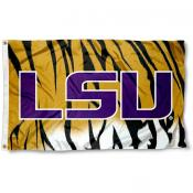 LSU Tigers Stripes Logo Flag