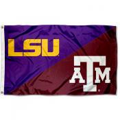 LSU Tigers vs Texas AM House Divided 3x5 Flag