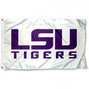 LSU Tigers White Logo Flag