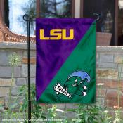 LSU vs Tulane House Divided Garden Flag