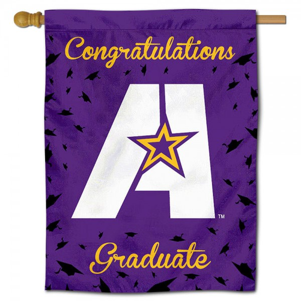 LSUA Generals Congratulations Graduate Flag measures 30x40 inches, is made of poly, has a top hanging sleeve, and offers dye sublimated LSUA Generals logos. This Decorative LSUA Generals Congratulations Graduate House Flag is officially licensed by the NCAA.