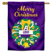 LSUA Generals Happy Holidays Banner Flag