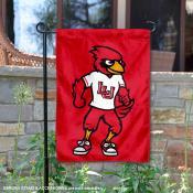 LU Cardinals Big Red Mascot Garden Flag
