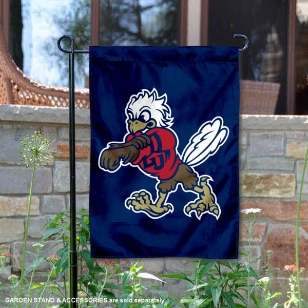 LU Flames Sparky the Eagle Mascot Garden Flag is 13x18 inches in size, is made of 2-layer polyester, screen printed university athletic logos and lettering. Available with Same Day Express Shipping, our LU Flames Sparky the Eagle Mascot Garden Flag is officially licensed and approved by the university and the NCAA.