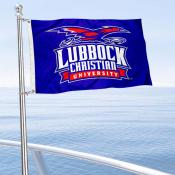 Lubbock Christian Chaparrals Boat and Mini Flag