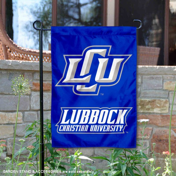 Lubbock Christian Chaparrals Garden Flag is 13x18 inches in size, is made of 2-layer polyester, screen printed university athletic logos and lettering, and is readable and viewable correctly on both sides. Available same day shipping, our Lubbock Christian Chaparrals Garden Flag is officially licensed and approved by the university and the NCAA.