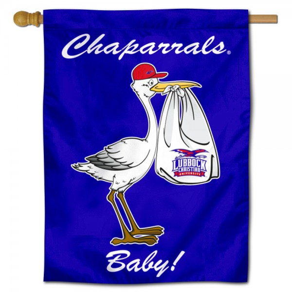 Lubbock Christian Chaparrals New Baby Flag measures 30x40 inches, is made of poly, has a top hanging sleeve, and offers dye sublimated Lubbock Christian Chaparrals logos. This Decorative Lubbock Christian Chaparrals New Baby House Flag is officially licensed by the NCAA.