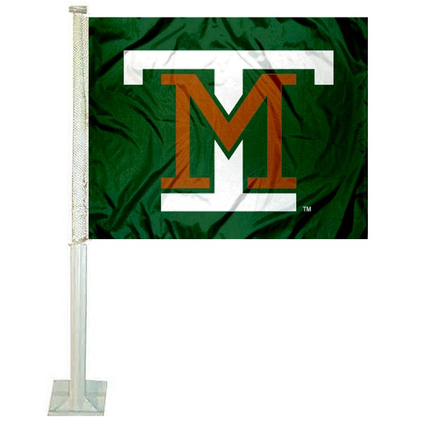 M Tech Diggers Logo Car Flag measures 12x15 inches, is constructed of sturdy 2 ply polyester, and has screen printed school logos which are readable and viewable correctly on both sides. M Tech Diggers Logo Car Flag is officially licensed by the NCAA and selected university.
