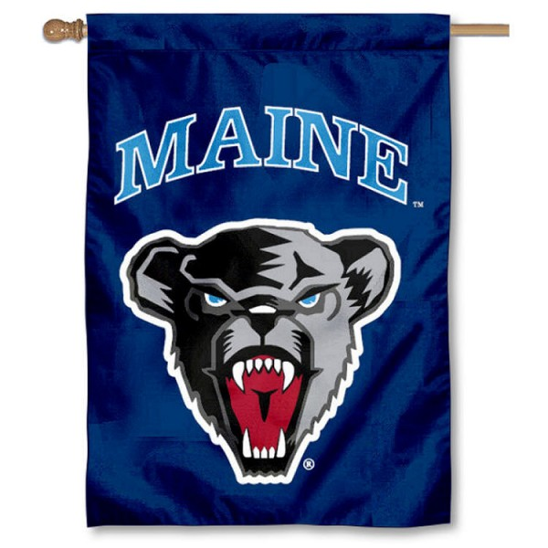 Maine Black Bears Double Sided Banner is a vertical house flag which measures 28x40 inches, is made of 2 ply 100% nylon, offers screen printed NCAA team insignias, and has a top pole sleeve to hang vertically. Our Maine Black Bears Double Sided Banner is officially licensed by the selected university and the NCAA.