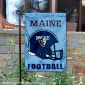 Maine Black Bears Helmet Yard Garden Flag