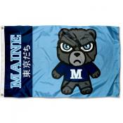 Maine Black Bears Kawaii Tokyodachi Yuru Kyara Flag