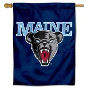 Maine Black Bears Logo Double Sided House Flag