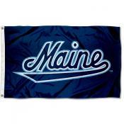 Maine Black Bears Script Flag