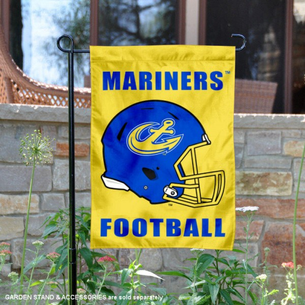 Maine Maritime Academy Football Helmet Garden Banner is 13x18 inches in size, is made of 2-layer polyester, screen printed Maine Maritime Academy athletic logos and lettering. Available with Same Day Express Shipping, Our Maine Maritime Academy Football Helmet Garden Banner is officially licensed and approved by Maine Maritime Academy and the NCAA.