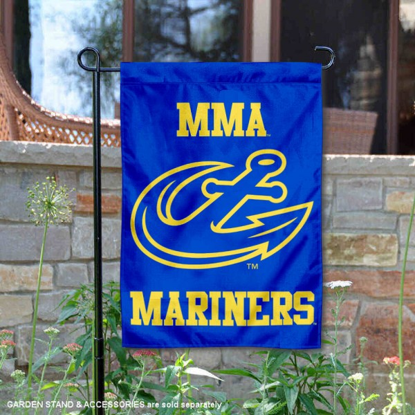 Maine Maritime Mariners Garden Flag is 13x18 inches in size, is made of 2-layer polyester, screen printed university athletic logos and lettering, and is readable and viewable correctly on both sides. Available same day shipping, our Maine Maritime Mariners Garden Flag is officially licensed and approved by the university and the NCAA.