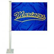Maine Maritime Mariners Logo Car Flag