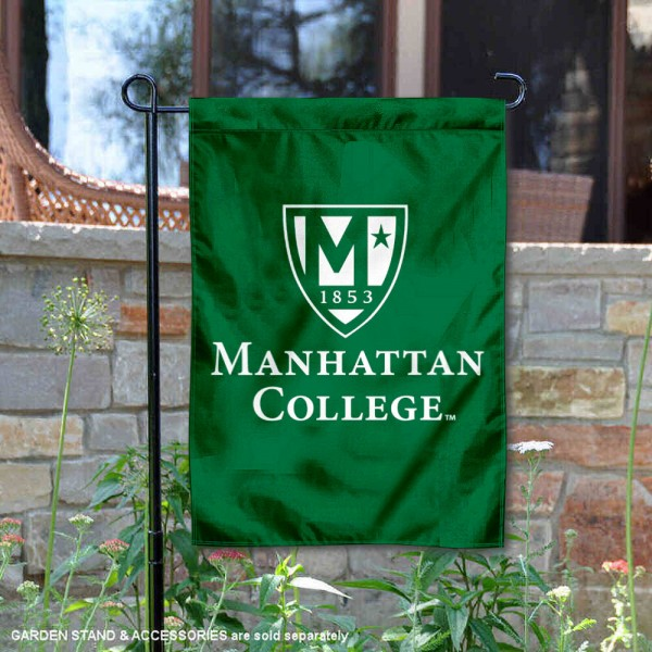 Manhattan College Academic Logo Garden Flag is 13x18 inches in size, is made of 2-layer polyester, screen printed university athletic logos and lettering, and is readable and viewable correctly on both sides. Available same day shipping, our Manhattan College Academic Logo Garden Flag is officially licensed and approved by the university and the NCAA.
