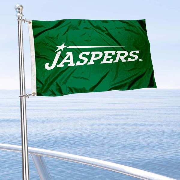 Manhattan Jaspers Boat and Mini Flag is 12x18 inches, polyester, offers quadruple stitched flyends for durability, has two metal grommets, and is double sided. Our mini flags for Manhattan College are licensed by the university and NCAA and can be used as a boat flag, motorcycle flag, golf cart flag, or ATV flag.