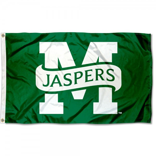 Manhattan Jaspers Flag measures 3x5 feet, is made of 100% polyester, offers quadruple stitched flyends, has two metal grommets, and offers screen printed NCAA team logos and insignias. Our Manhattan Jaspers Flag is officially licensed by the selected university and NCAA.
