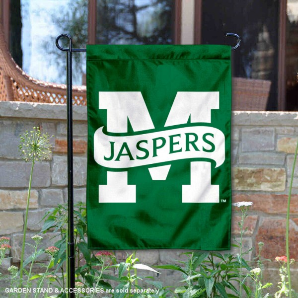 Manhattan Jaspers Garden Flag is 13x18 inches in size, is made of 2-layer polyester, screen printed university athletic logos and lettering, and is readable and viewable correctly on both sides. Available same day shipping, our Manhattan Jaspers Garden Flag is officially licensed and approved by the university and the NCAA.