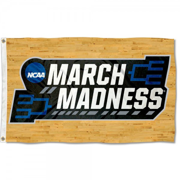 March College Basketball Madness Tournament Flag measures 3x5 feet, is made of 100% polyester, offers quadruple stitched flyends, has two metal grommets, and offers screen printed NCAA team logos and insignias. Our March College Basketball Madness Tournament Flag is officially licensed by the selected university and NCAA.