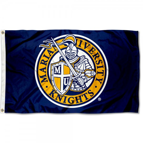 Marian Knights Flag measures 3x5 feet, is made of 100% polyester, offers quadruple stitched flyends, has two metal grommets, and offers screen printed NCAA team logos and insignias. Our Marian Knights Flag is officially licensed by the selected university and NCAA.