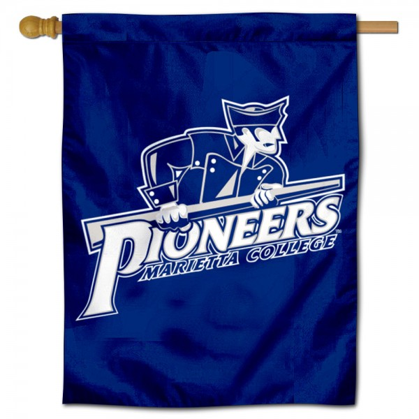 Marietta College Pioneers Double Sided House Flag is a vertical house flag which measures 30x40 inches, is made of 2 ply 100% polyester, offers screen printed NCAA team insignias, and has a top pole sleeve to hang vertically. Our Marietta College Pioneers Double Sided House Flag is officially licensed by the selected university and the NCAA.
