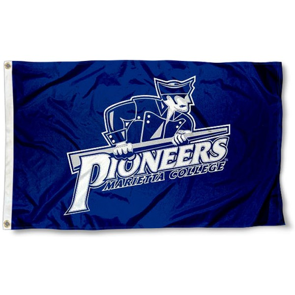 Marietta College Pioneers Flag measures 3'x5', is made of 100% poly, has quadruple stitched sewing, two metal grommets, and has double sided Team University logos. Our Marietta Pioneers 3x5 Flag is officially licensed by the selected university and the NCAA.