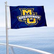 Marquette Golden Eagles Boat and Mini Flag