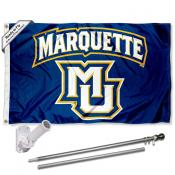 Marquette Golden Eagles Flag Pole and Bracket Kit