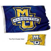 Marquette Golden Eagles Two Logo Double Sided Flag