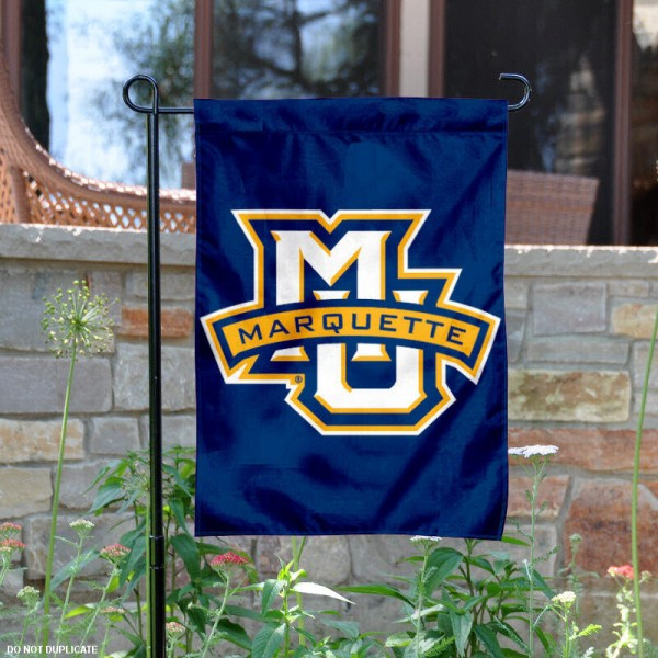 Marquette University Garden Flag is 13x18 inches in size, is made of 2-layer polyester, screen printed Marquette University athletic logos and lettering. Available with Same Day Express Shipping, Our Marquette University Garden Flag is officially licensed and approved by Marquette University and the NCAA.