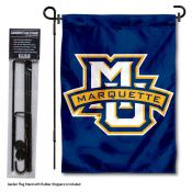 Marquette University Garden Flag and Stand