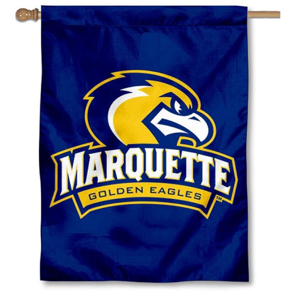 Marquette University House Flag is a vertical house flag which measures 30x40 inches, is made of 2 ply 100% polyester, offers dye sublimated NCAA team insignias, and has a top pole sleeve to hang vertically. Our Marquette University House Flag is officially licensed by the selected university and the NCAA.