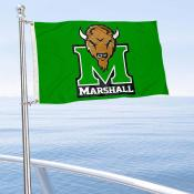 Marshall Thundering Herd Boat and Mini Flag