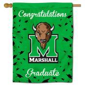 Marshall Thundering Herd Congratulations Graduate Flag