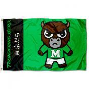 Marshall Thundering Herd Kawaii Tokyodachi Yuru Kyara Flag