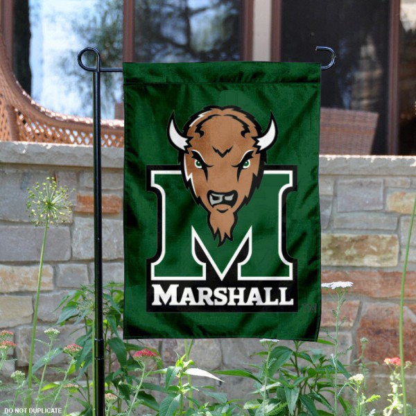 Marshall University Garden Flag is 13x18 inches in size, is made of 2-layer polyester, screen printed Marshall University athletic logos and lettering. Available with Same Day Express Shipping, Our Marshall University Garden Flag is officially licensed and approved by Marshall University and the NCAA.