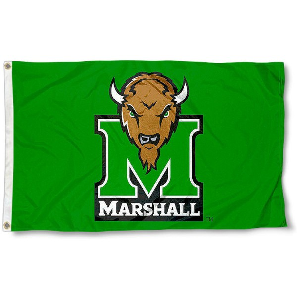 Marshall University Green 3x5 Flag measures 3'x5', is made of 100% poly, has quadruple stitched sewing, two metal grommets, and has double sided Team University logos. Our Marshall University Green 3x5 Flag is officially licensed by the selected university and the NCAA.