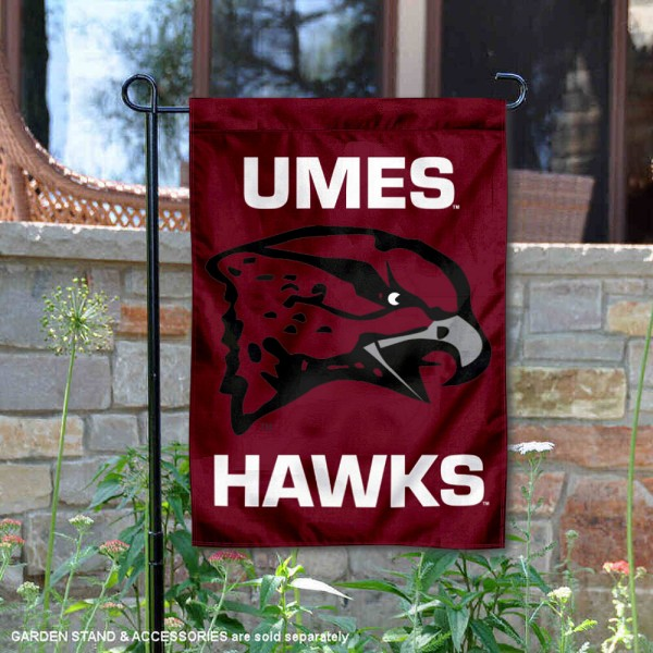 Maryland Eastern Shore Hawks Garden Flag is 13x18 inches in size, is made of 2-layer polyester, screen printed university athletic logos and lettering, and is readable and viewable correctly on both sides. Available same day shipping, our Maryland Eastern Shore Hawks Garden Flag is officially licensed and approved by the university and the NCAA.