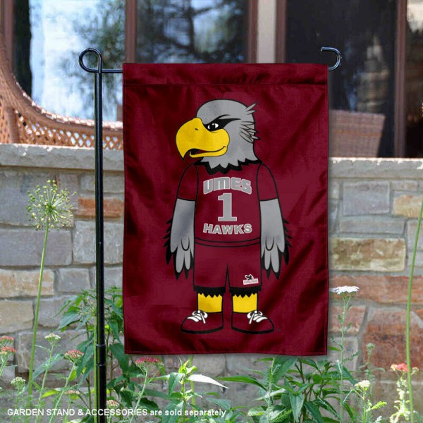 Maryland Eastern Shore Hawks Harry the Hawk Garden Flag is 13x18 inches in size, is made of 2-layer polyester, screen printed university athletic logos and lettering, and is readable and viewable correctly on both sides. Available same day shipping, our Maryland Eastern Shore Hawks Harry the Hawk Garden Flag is officially licensed and approved by the university and the NCAA.