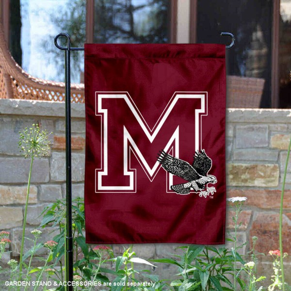 Maryland Eastern Shore Hawks M Hawk Garden Flag is 13x18 inches in size, is made of 2-layer polyester, screen printed university athletic logos and lettering, and is readable and viewable correctly on both sides. Available same day shipping, our Maryland Eastern Shore Hawks M Hawk Garden Flag is officially licensed and approved by the university and the NCAA.